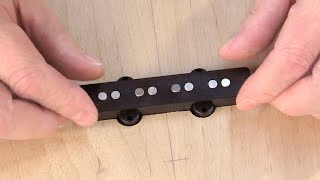 Watch the Trade Secrets Video, How to rout a Jazz Bass pickup cavity with templates