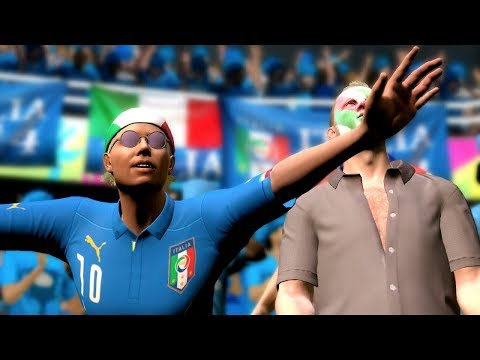 FIFA World Cup 2014: Italy vs Uruguay (Group D) Simulation (EA FIFA World Cup 2014 Brazil)