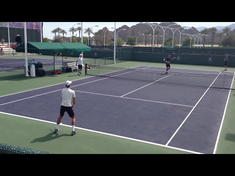 Novak Djokovic 2014 Indian Wells Practice 3.7.14 BNP Paribas Open