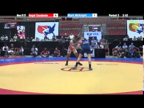 57 KG - Angel Escobedo vs. Mark McKnight