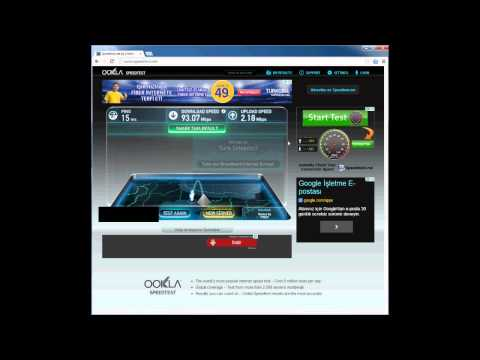 100 MBPS SPEED AND DOWNLOAD TEST (100 MBPS HIZ VE İNDİRME TESTİ)