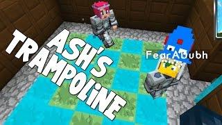 Minecraft Attack Of The B Team Ash's Trampoline!! [28