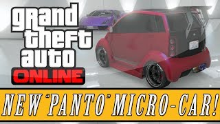 "GTA 5: DLC NEW ""Panto Microcar"" Hipster DLC Vehicle"