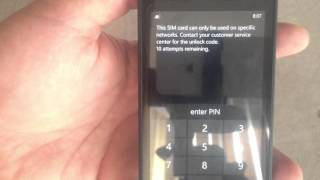 Carrier Unlocking My AT&T Nokia Lumia 520 Windows 8 Phone