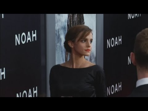 Emma Watson and Douglas Booth interviews at Noah premiere in New York