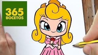 COMO DIBUJAR Princesa Aurora KAWAII PASO A PASO , Dibujos kawaii faciles , How to draw