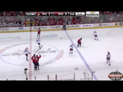 Big Hit : Alex Ovechkin v Derek Morris : Washington Capitals v Phoenix Coyotes : March 7 2014