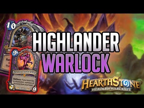 Gameplay Highlander Warlock Kobolds And Catacombs | Hearthstone Guide How To Play
