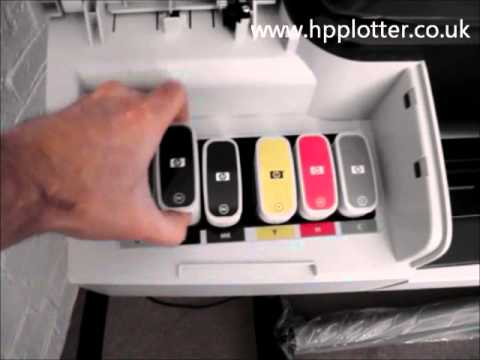 Designjet T1300/T790/T2300eMFP Series  -  Replace ink cartridges on your printer