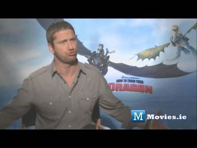 Has Gerard Butler ever ridden a dragon? Star of How To Train Your Dragon & The Bounty Hunter