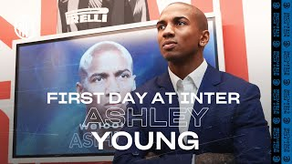 ASHLEY YOUNG'S FIRST DAY AT INTER! | #WelcomeAshley 🏴⚫🔵????????