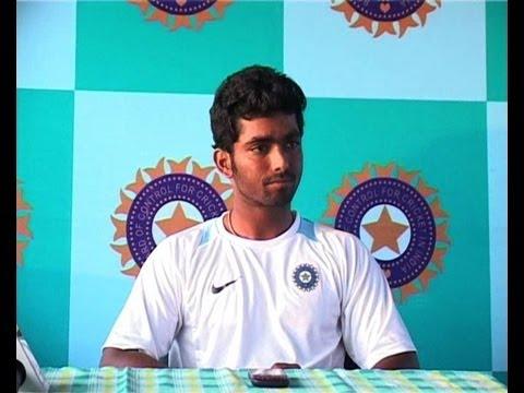 Indian A team batsman Vijay Zol press conference