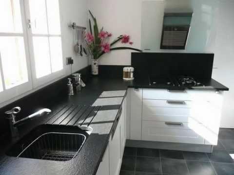 granit noir zimbabwe flamme marbrerie france azur youtube. Black Bedroom Furniture Sets. Home Design Ideas