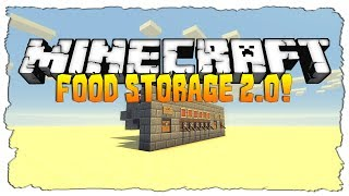Minecraft: Automatic Food Storage 2.0! (Minecraft Vanilla Tutorial)
