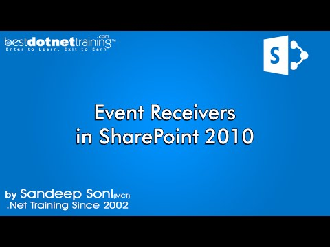 Event Receivers in SharePoint 2010 by bestsharepointtraining.com