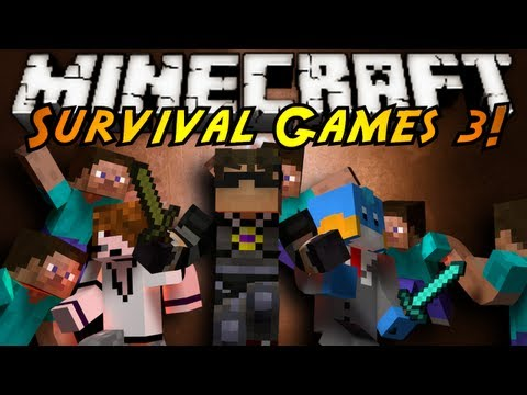 Minecraft : SURVIVAL GAMES 3!, JOIN SKY, DEADLOX, AND HUSKYMUDKIPZ, AS THEY FIGHT TO THE DEATH IN ARENA OF 24...WHO WILL BE THE VICTOR!? Friends Channels http://www.youtube.com/user/huskym...