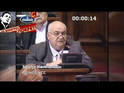 Ђорђе Комленски - Срамна изјава Зорана Живковића о паду руског авиона