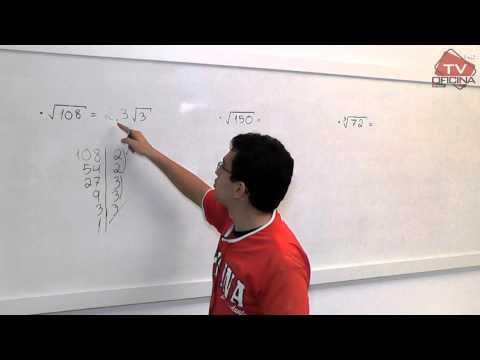 Matemática - Tirar a Raíz