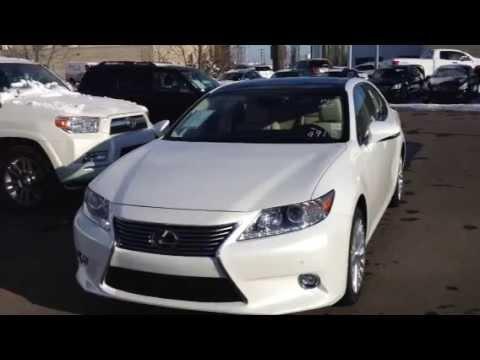 2014 White Lexus ES 350 Technology Package Edmonton