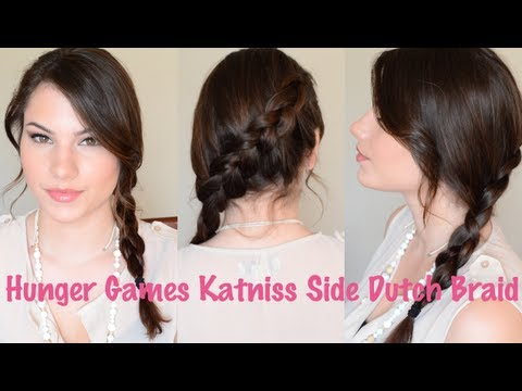 Hunger Games Katniss Side Dutch Braid Hair Tutorial