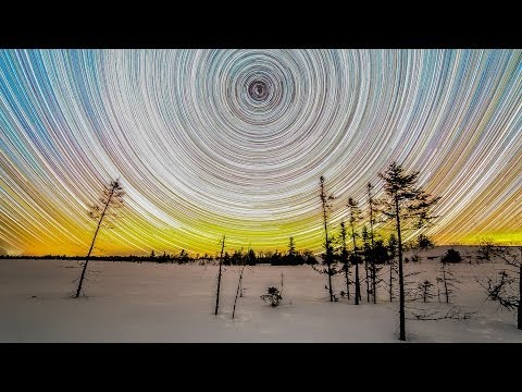 Northern Lights Time Lapse and Star Trail