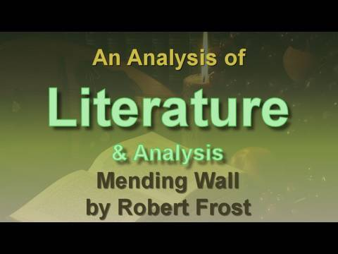 an overview of the mending wall symbol poem by robert frost Read expert analysis on imagery in mending wall  sign up for free « library  « poetry « mending wall « imagery mending wall cover image.