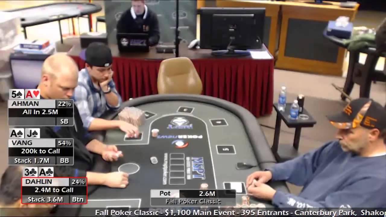 main event poker