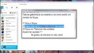 Como Excluir Um Contato Do Skype