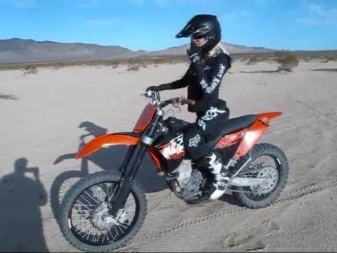 girl riding dirt bike naked