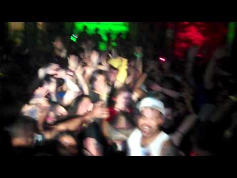KID CEDEK CROWD SURFS DURING HIS SET