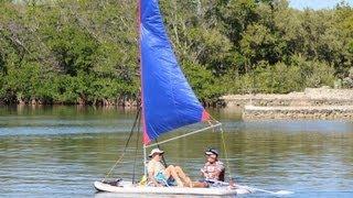 Inflatable Sail Catamaran Paddle Board Combo. Patent