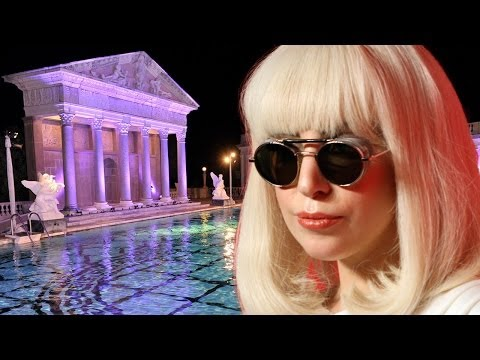 Lady Gaga Filming Music Video at Hearst Castle & Real Housewives of Beverly Hills Music Video!