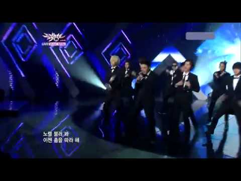 110805 | Super Junior - Superman (ComeBack Stage) @ Music Bank