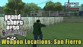 GTA San Andreas: San Fierro Weapon Locations.