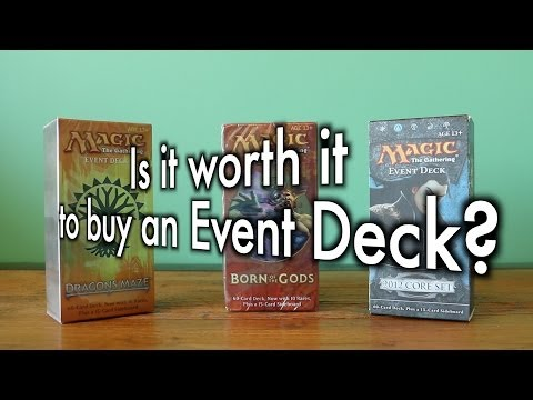 MTG - Is It Worth It To Buy An Event Deck? Can It Be Upgraded? Born of the Gods - Magic: Gathering