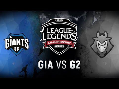GIA vs. G2 - Week 9 Day 1 | EU LCS Summer Split | Giants Gaming vs. G2 Esports (2018)