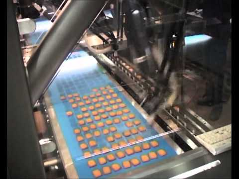PWR Pack   picker line biscuits direct into flow wrapper chain