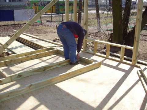 Dom z drewna 60 m2 - etapy budowy