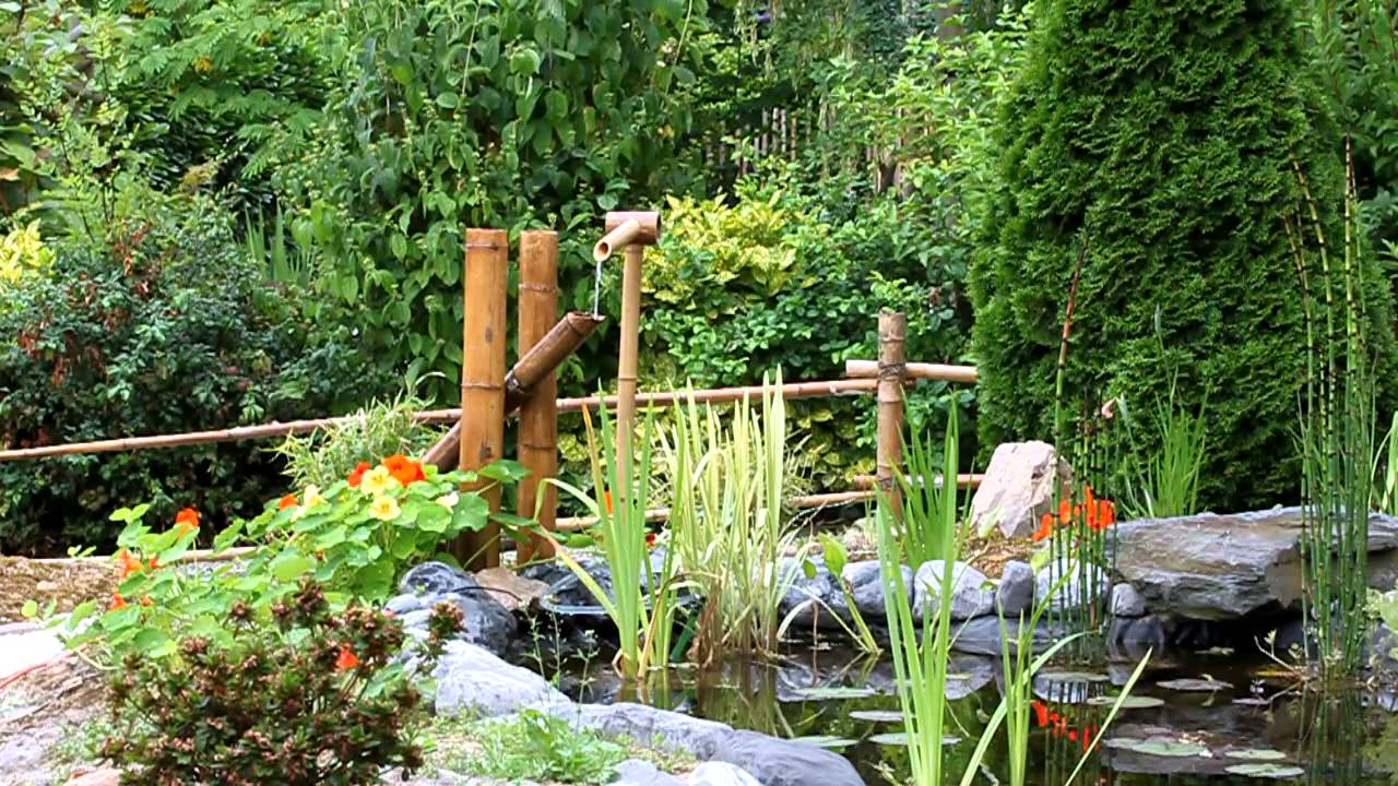 Fontaine bambou youtube for Jardin zen avec bambou