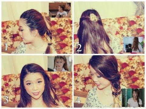 4  Kiểu Tóc dễ thương giống Khởi My trong mv Gửi Cho Anh 2 ( 4 quick & Easy hair tutorials)