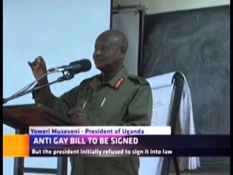 ANTI GAY BILL TO BE SIGNED