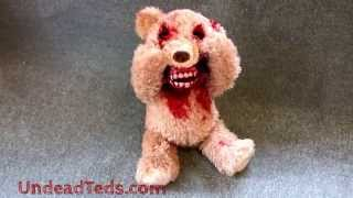 Horribly Cute Peak-a-Boo Zombie Teddy Bear