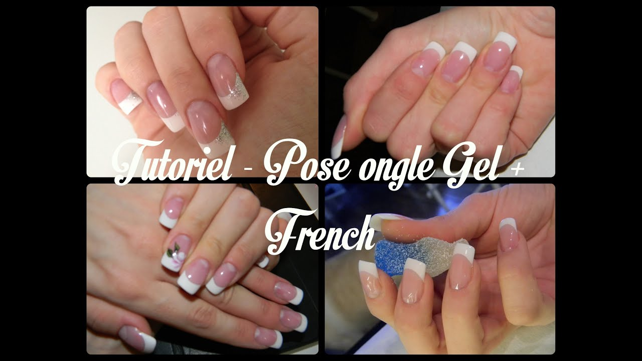 tutoriel pose ongle gel french youtube. Black Bedroom Furniture Sets. Home Design Ideas