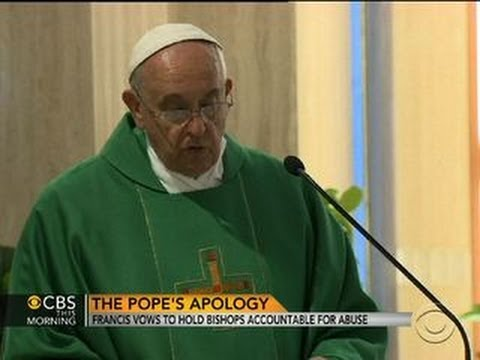Pope Francis apologizes to abuse victims