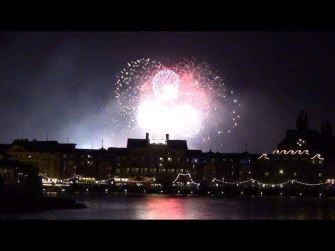 Disney's Hollywood Studios New Years Eve Fireworks 2014 Above Walt Disney World Boardwalk Resort,