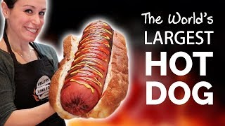 HOW WE MADE THE WORLD'S LARGEST HOT DOG 🌭