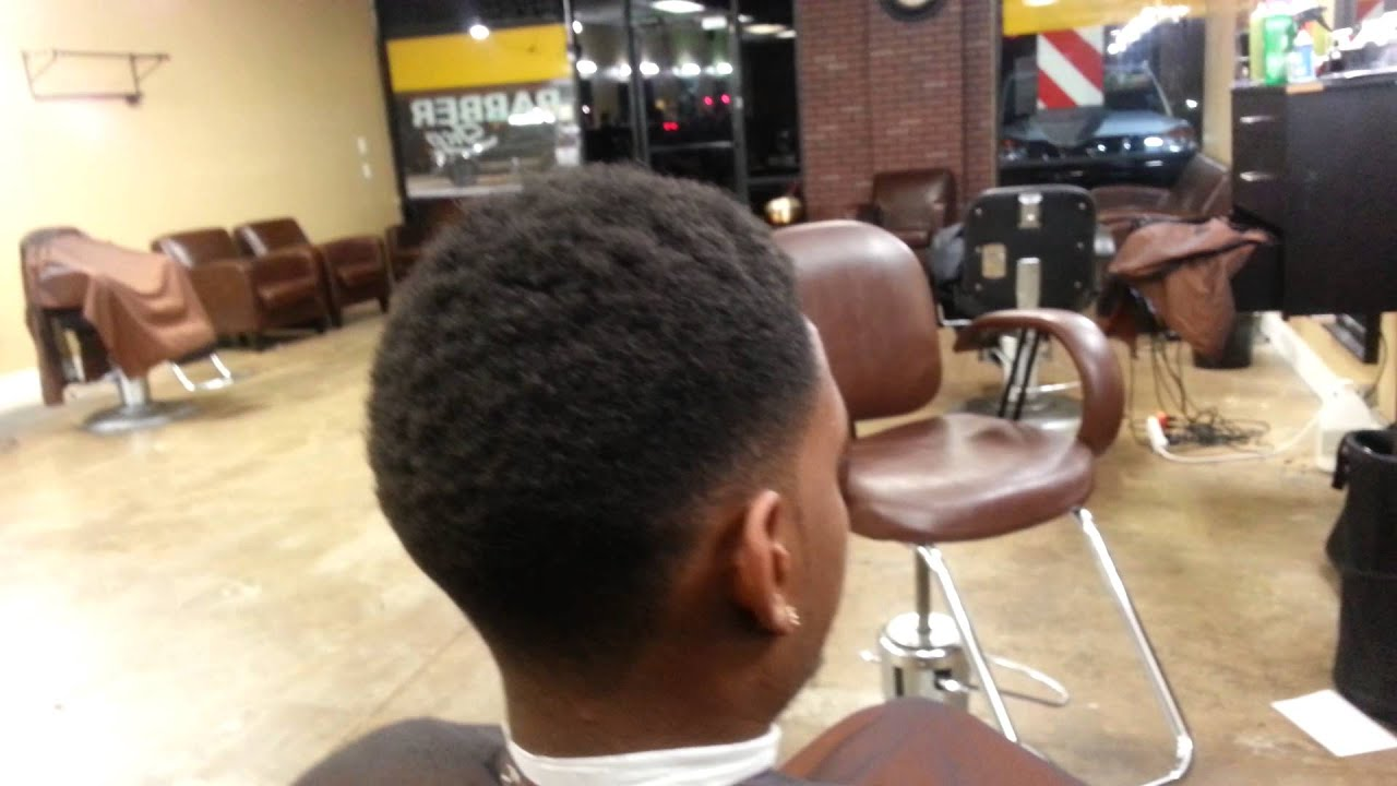 Nappy Temp Fade with Afro
