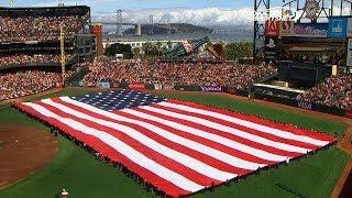 STL@SF: Cast of Jersey Boys sing national anthem