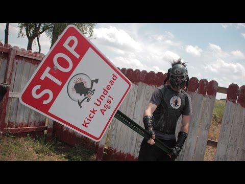 Can a STREET SIGN kill a ZOMBIE like in the WALKING DEAD?