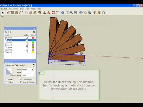 SketchUp open door animation
